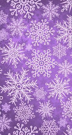 Snowflakes on purple background