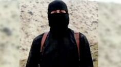 """The masked Islamic State militant known as """"Jihadi John"""" has been named. He is Mohammed Emwazi, a Kuwaiti-born British man in his mid-20s from west London. Pictured in the videos of the beheadings of James Foley, Abdul-Rahman (Peter) Kassig, Alan Henning, Kenji Goto and Steven Sotloff ."""