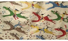 "American Indian #Buffalo Robe Painting: ""Homeland Security 2"" - Closeup 2 #Lakota #Art done by Evans Flammond, SR."