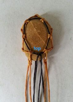 This wrapping is Easy and can be adapted to many patterns.  For this tutorial, the length of cords is just for a pendant only.  The knot...