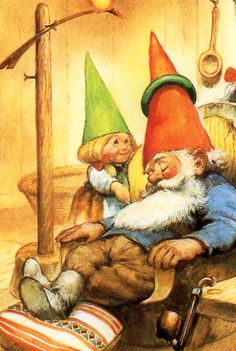 """Rien Poortvliet (1932-1995) — Gnome Elf David """"The Secret Book of Gnomes"""" by Wil Huygen   (571x850)"""