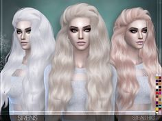 Sirens Female Hair by Stealthic at TSR via Sims 4 Updates