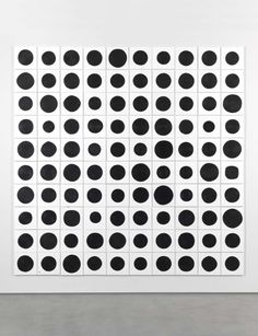 Jonathan Horowitz 100 Dots 2015 acrylic on canvas100 parts, each 30.5 x 30.5 cm