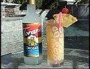 1 1/2 ounces Bacardi light rum 3/4 ounce triple sec 3/4 ounce orgeat syrup 3 ounces orange juice 3 ounces pineapple juice splash Bacardi 151...