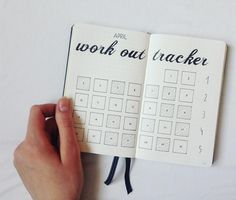 """167 Likes, 5 Comments - @bullet_journal_ish on Instagram: """"I wanted to share it tomorrow but I just couldn't wait. I LOVE how my work out tracker turned out…"""""""