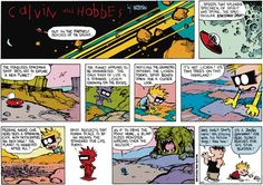 No matter how many times we #ReadCalvinAndHobbes, the captivating world of Calvin's alter ego, Spaceman Spiff, interplanetary explorer extraordinaire, always amazes us. ... Read more @ http://blogs.gocomics.com/2015/11/spaceman-spiff-master-of-math-problems-and-mystery-meat-alike.html?utm_source=pinterest&utm_medium=socialmarketing&utm_content=spacemanspiffmasterofmathproblemsandmysterymeatalike-blog&utm_campaign=social | #GoComics #webcomic #comics #CalvinAndHobbes #SpacemanSpiff