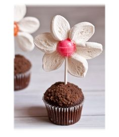 #TheChocolateExpo Kids Chocolate Cupcake With Lollipop Flower