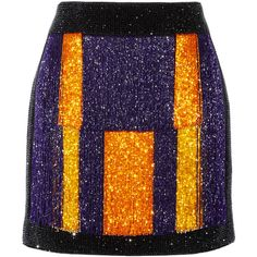 Balmain Color-block embellished velvet mini skirt ($1,370) ❤ liked on Polyvore featuring skirts, mini skirts, purple, zipper mini skirt, embroidered skirt, short skirts, block print skirts and embellished skirts