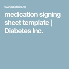 Caregiver tips for medication management creating daily for Medication signing sheet template