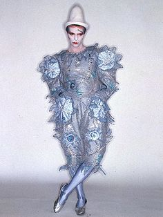 Bowie's Pierrot costume designed by his longtime friend Natasha Korniloff. Photo by Brian Duffy Bowie's Pierrot costume designed by his longtime friend Natasha Korniloff. Photo by Brian Duffy Pierrot Costume, Pierrot Clown, Michel Delpech, Mayor Tom, Brian Duffy, The Thin White Duke, Scary Monsters, Ziggy Stardust, Androgynous Fashion