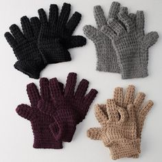Baby Alpaca Waffle Knit Gloves - As the temperature dips, our chunky weave waffle-knit gloves will help keep you cozy.