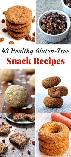 43 Healthy Gluten-Free Snack Recipes from Healthy Helper | The most comprehensive list of healthy, gluten-free snack recipes ever! All are packed with nutrients, whole food ingredients, and are easy to make. Grain-free, paleo, and vegan options throughout!