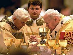 """Roman Catholic Church (@catholica.romana) posted on Instagram: """"Pope St John Paul II with Cardinal Joseph Ratzinger. #catholic #catholicism #catholics #romancatholic #catholicchurch #catholicsaints…"""" • Jul 2, 2021 at 1:21pm UTC Catholic Religion, Catholic Saints, Roman Catholic, St John Paul Ii, Bento, Couple Photos, Jesus Christ, Joseph, Couples"""