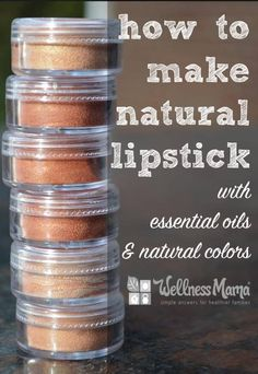 Natural Lipstick Recipe with essential oils and natural colors
