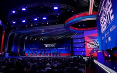 ABC News Democratic Debate Broadcast Set Design Gallery Tv Set Design, Stage Design, George Stephanopoulos, Abc News, Over The Years, Gallery, Art, Art Background, Set Design