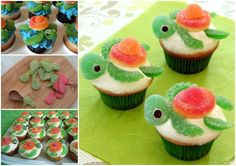Squirt Turtle Cupcakes