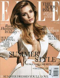 Rosie Huntington Whiteley by Terry Tsiolis for <i>Elle UK</i> July 2011