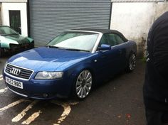 """Audi a4 cabrio lowered on coilovers 20"""" rims"""