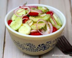 Classic Cucumber & Tomato Salad - I love the balsamic and honey combo in this #salad