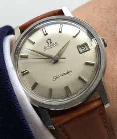 Perfect, serviced Omega Seamaster Calendar Automatic, Vintage