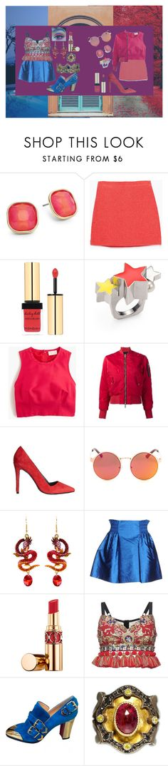 """Untitled #48"" by jack-rabbit ❤ liked on Polyvore featuring ABS by Allen Schwartz, Zara, Yves Saint Laurent, Delfina Delettrez, J.Crew, Unravel, Alice + Olivia, Mauro Grifoni, Dolce&Gabbana and Christian Louboutin"
