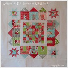 Full house quilt pattern by Schnibbles