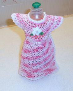 Pink and White Dish Soap Bottle Dress by thecrafter on Etsy, $8.00