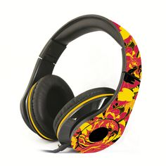 Quality headphones by Punchdrunk Panda. These headphones are foldable, adjustable, and most of all are graphically designed by local Filipino artists! Headset, Panda, Headphones, Graphic Design, City, Fajardo, Color, Music, Musica