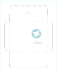 Scalloped-Edge Envelope Template