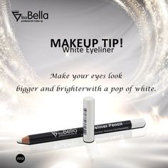 Makeup tip! White Eyeliner Makeup Makeup Tip White Eyeliner Looks, White Eyeliner Makeup, Eye Makeup, Black Girl Makeup, Makeup Tips, In The Heights, Mascara, Eyelashes, Cool Pictures