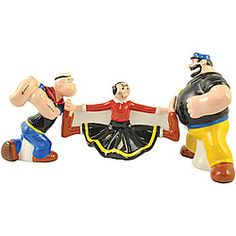 Popeye Olive Oyl In The Middle Shaker Set