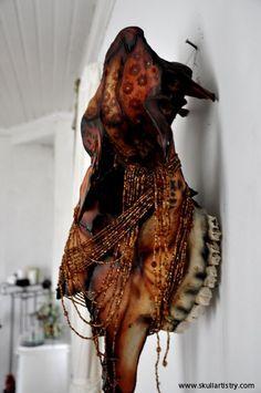 Hand Painted / REAL Animal Skull/ by SkullsAndBonesSweden on Etsy