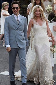 Die traumhaftesten Brautkleider der Stars Kate Moss Nur das beste für Topmodel Kate Moss: Eine persönliche Kreation von John Galliano.