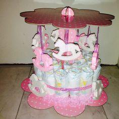 Carouzel diaper cake