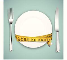 Diet concept - ilustração de arte em vetor