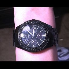 9ca86f77f53 GUESS Watch For Women (Black) Gorgeous Ladies  Black GUESS Watch has  rhinestones around