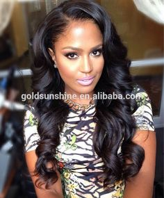 Wholesale alibaba brazilian human hair full lace wig with baby hair for black women