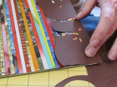Cool project made from recycled magazines!