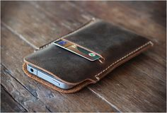 DISTRESSED LEATHER IPHONE 5 CASE