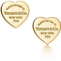 Return to Tiffany® Heart Tag Earrings (3.900 HRK) ❤ liked on Polyvore featuring jewelry, earrings, accessories, tiffany, gold heart earrings, gold heart shaped earrings, gold jewellery, 18k gold earrings and heart shaped earrings