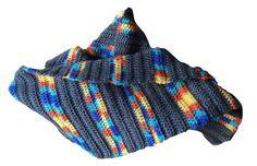Echarpe femme multicolore réalisée au crochet : Echarpe, foulard, cravate par filbois