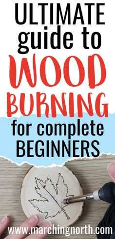 Have you been wanting to try wood burning but aren't sure where to start? Learn everything you need to know in this Ultimate Guide to Wood Burning for Beginners! Wood Burning Tips, Wood Burning Techniques, Wood Burning Crafts, Wood Burning Patterns, Wood Block Crafts, Wood Craft Patterns, Wooden Crafts, Diy Wood Projects, Diy Crafts
