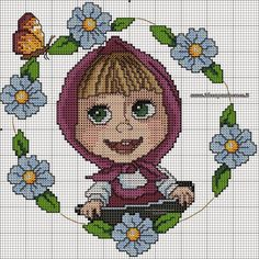 Hobby lavori femminili - ricamo - uncinetto - maglia: MASCIA E L'ORSO