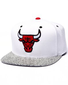 A DrJays.com Exclusive: Chicago Bulls Fresh to Death Edition Custom Snapback hat by Mitchell & Ness!