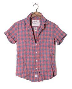 Womens Billy Jean Checker Linen Shirt