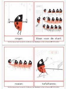 woordkaarten01 Exercise Activities, Olympic Sports, Pre School, Ladybugs, Kids, First Grade, Creative, Young Children, Boys