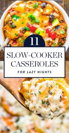 Making a home-cooked meal doesn't fit into that equation. Or does it? Presenting 11 slow-cooker casseroles that pretty much make themselves. #slowcooker #slowcookerrecipes #casseroles #casserolerecipes #casseroles #crockpot #crockpotrecipes #holidaycasseroles
