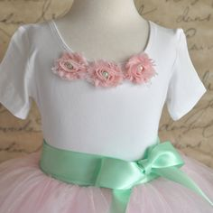 Girls white or pink short sleeved leotard-- with shabby chic chiffon blossoms in pink, ivory, white, vintage pink, gray and more. Girls Tulle Skirt, Tulle Flower Girl, Flower Girl Dresses, Flower Girls, Girls Leotards, Baby Fashionista, Pink Tutu, Pink Shorts, Brides And Bridesmaids