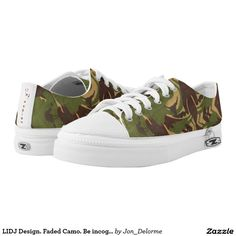 LIDJ Design. Faded Camo. Be incognito! Printed Shoes