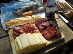 Picada bien Argentina!! This is an appetizer/snack tray of deli meats and cheese with good argentine bread